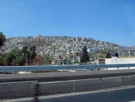 The slum in Mexico city, Mexico