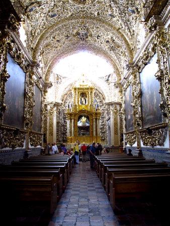 Puebla  Mexico - 02 Mar 2011: The church Of Santo Domingo, Puebla, Mexico