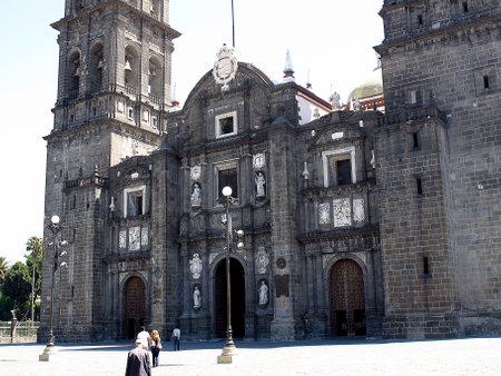 Puebla  Mexico - 02 Mar 2011: The Catedral de Puebla in Mexico Редакционное