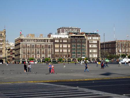 Mexico city  Mexico - 01 Mar 2011: Zocalo - Plaza de La Constitucion, Mexico city, Mexico