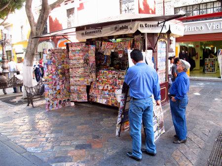 Puebla  Mexico - 02 Mar 2011: The newsstand in Puebla, Mexico