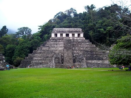 Ancient ruins of Maya, Palenque, Mexico 版權商用圖片