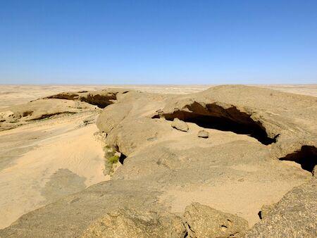 La vista sobre el desierto, Windhoek, Namibia Foto de archivo