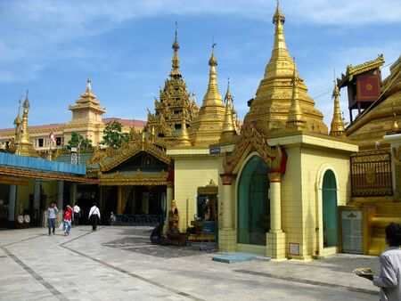 Yangon  Myanmar - 04 Jan 2010: The ancient temple in Yangon ( Rangoon ), Myanmar Redakční