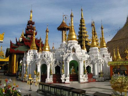 Yangon  Myanmar - 04 Jan 2010: Shwedagon pagoda, in Yangon ( Rangoon ), Myanmar