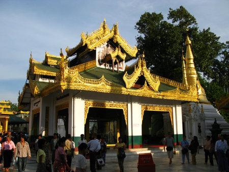 Yangon  Myanmar - 04 Jan 2010: Shwedagon pagoda ( temple ), in Yangon ( Rangoon ), Myanmar
