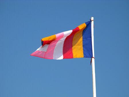 The flag in ShweguLay Pagoda, Bago city, Myanmar