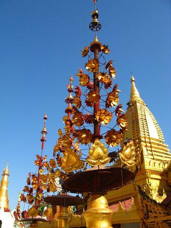 Shwezigon Pagoda in Bagan, Myanmar 写真素材 - 129449681