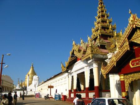 Bagan  Myanmar - 06 Jan 2010: Shwezigon Pagoda in Bagan, Myanmar