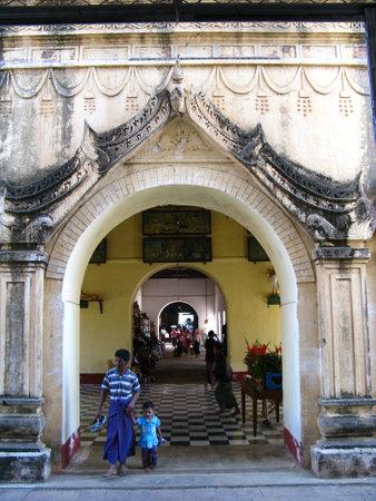 Bagan  Myanmar - 06 Jan 2010: Htilominlo Temple in Bagan, Myanmar Sajtókép