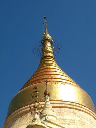 Shwezigon Pagoda in Bagan, Myanmar 写真素材 - 129451947
