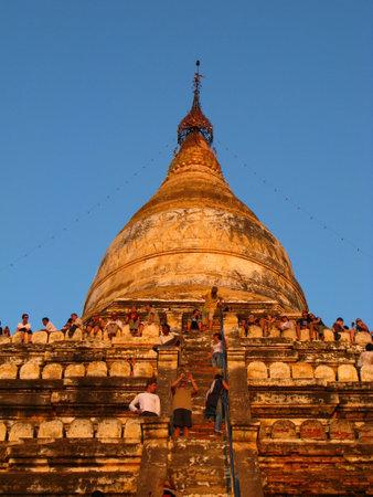 Bagan  Myanmar - 06 Jan 2010: Ruins of the ancient pagoda, Bagan, Myanmar Sajtókép