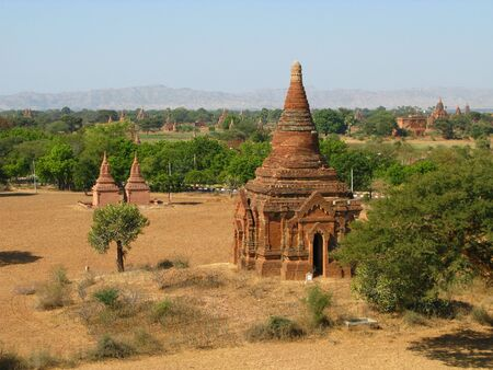 Ruins of the ancient pagoda, Bagan, Myanmar