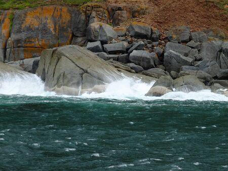 Rocks of the coast of Atlantic ocean, South Africa