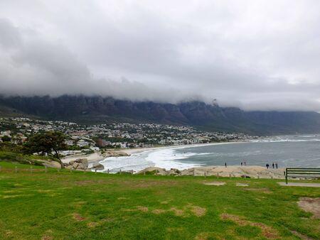 The storm on Twelve apostles, Atlantic ocean, South Africa