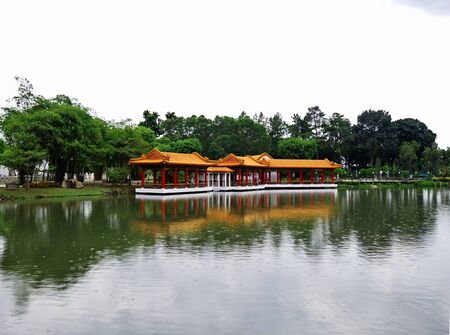 The temple in Chinese Gardens, Singapore 스톡 콘텐츠