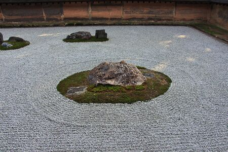 Ryoanji Temple in Kyoto, Japan Imagens