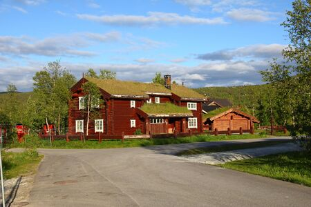 The traditional house in Geilo village, Norway