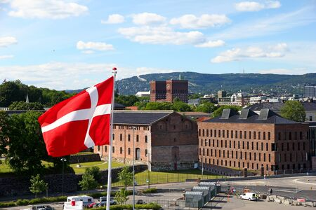 The flag in Oslo, Norway