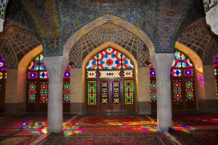 Shiraz / Iran - 29 Sep 2012: Nasir-ol-molk Mosque in Shiraz, Iran