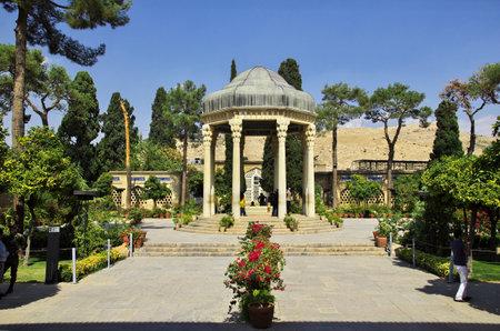 Shiraz / Iran - 29 Sep 2012: Tomb of Hafez in Shiraz, Iran