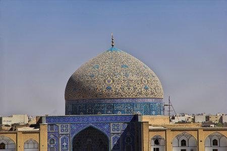 Isfahan / Iran - 03 Oct 2012: Mosque on Naqsh-e Jahan Square in Isfahan, Iran