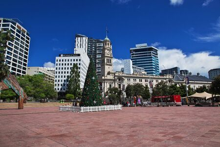 Auckland / New Zealand - 15 Dec 2018: The Christmas tree in Auckland city, New Zealand
