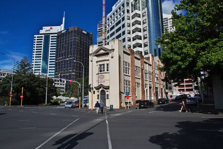 Auckland / New Zealand - 15 Dec 2018: The street in Auckland city, New Zealand