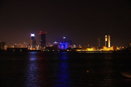 Manama / Bahrain - 07 Mar 2017: The skyscraper in Bahrain Financial Harbour, Manama, Bahrain