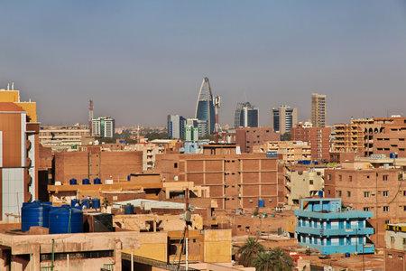 Sudan / Khartoum - 18 Feb 2017: The view on the old town of Khartoum, Sudan