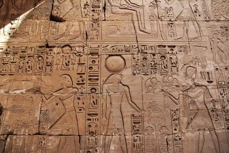 Luxor / Egypt - 01 Mar 2017: Ancient Karnak temple in Luxor, Egypt