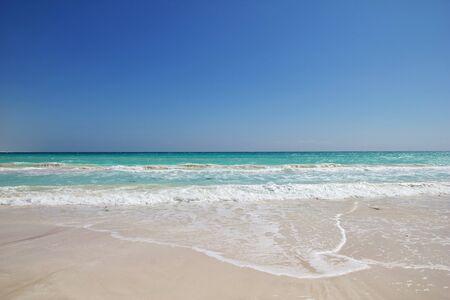 La costa del océano Índico, la isla de Socotra, Yemen Foto de archivo