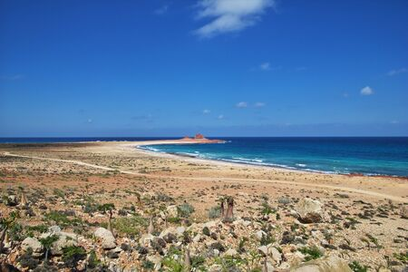 The beach on Socotra island, Indian ocean, Yemen