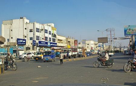 Hodeida / Yemen - 03 Jan 2013: The street in Hodeida, Red Sea, Bab El Mande, Yemen