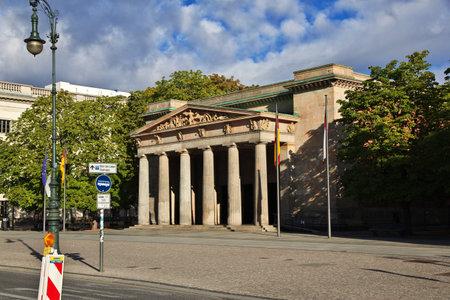 Berlin / Germany - 09 Sep 2015: The vintage house in Unter den Linden, Berlin, Germany