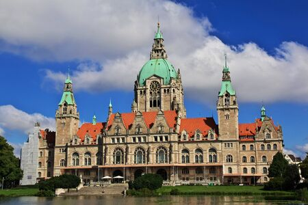 Hanover  Germany - 10 Sep 2015: City hall in Hanover, Germany