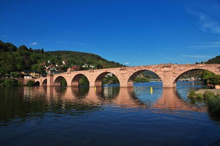 Heidelberg / Germany - 11 Sep 2015: The old bridge in Heidelberg, Germany Фото со стока - 136577097