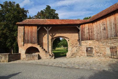 Rotenburg on Tauber, Bavaria  Germany - 12 Sep 2015: The gate in Rotenburg on Tauber in Germany