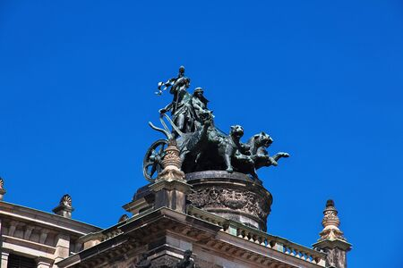 Dresden, Saxony  Germany - 07 Sep 2015: Semper Opera House, Semperoper in Dresden, Saxony, Germany