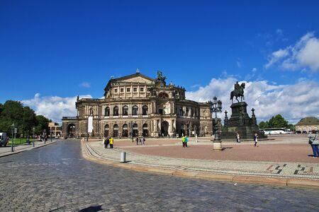 Dresden, Saxony / Germany - 07 Sep 2015: Semper Opera House, Semperoper in Dresden, Saxony, Germany