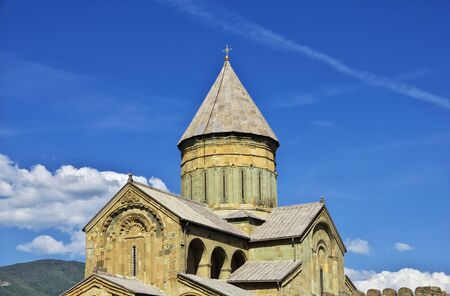 Mtskheta  Georgia - 04 May 2013: The church in city Mtskheta, Georgia 新聞圖片