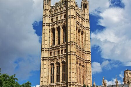 London / England - 29 Jul 2013: The building of British Parliament in London city, England 新聞圖片