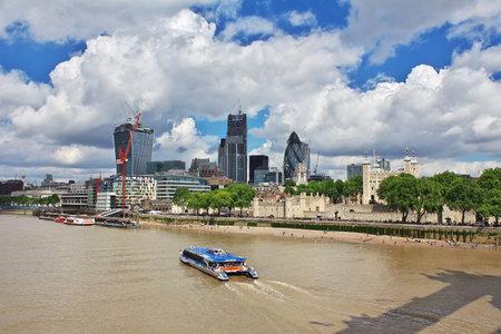 London / UK - 28 Jul 2013: The skyscraper in London city, England