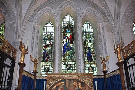 London / UK - 28 Jul 2013: The church in London city, England 新聞圖片