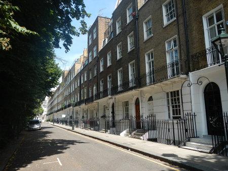 London / UK - 27 Jul 2013: The building in London city, England 新聞圖片