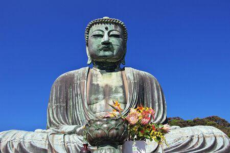 Kotoku-in temple, Great Buddha of Kamakura, Japan Фото со стока