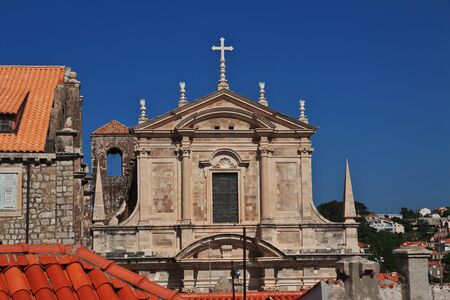 Dubrovnik / Croatia - 02 May 2018: Parish Church of St Peter in Dubrovnik city on Adriatic sea, Croatia