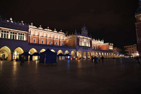 Krakow / Poland - 05 Sep 2015: Night in Krakow city of Poland
