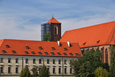 Wroclaw / Poland - 16 Sep 2015: The vintage building in Wroclaw city in Poland