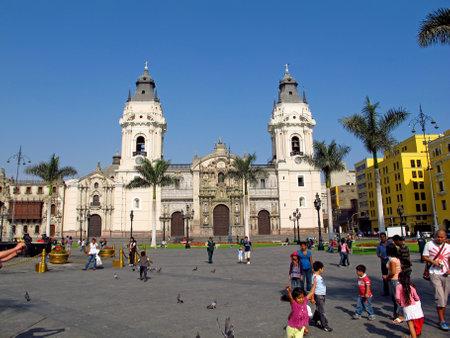 Lima / Peru - 01 May 2011: Basilica y Monasterio de Santo Domingo, the church in Lima city, Peru Editoriali